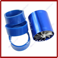 Intake Pipe Blue D5143 Hot Sale Blue F1-Z Double Supercharger Fuel Gas Saver Fan Universal Turbine Turb Air Intake