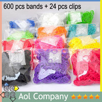 Link, Chain DIY Children's Best Price 12 colors Rainbow DIY Loom Bands Glitter Jelly Glow in the dark Dual Multi Color Rubber Bands (600 bands + 24 clips + 1 hook)