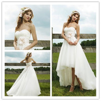 2015 New Collection Sweetheart Short Front Long Back Wedding...