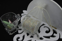 100pcs 10X15cm ivory jewelry gift pouch wedding organza bags Wedding Favor Party