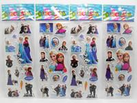 Fridge Magnets magnet sheet - 50 Sheets Frozen Children Cute PVC Puffy Stickers Cartoon Craft Scrapbook Stickers Fridge magnets
