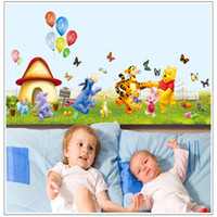 Wholesale Kids Room Decor Removable PVC Wall Sticker Decal Baby Nursery Winnie The Pooh Wall Stickers Decals AY7039