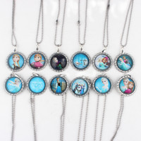 Beaded Necklaces Frozen Charm Ball Chain Necklace Women's Hot Sell Frozen Ball Chain Necklace Frozen Cartoon Characters Pendants Charm Necklace Dress Decoration Free Shipping