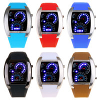 Sport military - 6 Colors Women Men Sports Watches Fashion Electronic New Military Hand Wind Wristwatches LED Racing Self wind Watch H9197