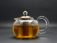 Glass teapots - 1Pc fl oz ml Borosilicate Heat Resisting Glass teapots Round Design Glass Blooming Tea Teapots with Stainless Steel Strainer Filter