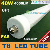 T8 40W SMD 3528 T8 LED Tube Light 40W 8ft 2400mm 2.4m FA8 LED fluorescent tube lamp SMD2835 High brightness 4000LM AC85-265V CE RoHS FCC ETL SAA UL 25 lot
