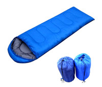 Wholesale outdoor camping envelope style hooded sleeping bag multicolor ZO77