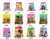 Backpacks Unisex 3-6T New Frozen drawstring bags Anna Elsa peppa pig sofia Despicable Me backpacks handbags children's school bags kids' shopping bags present