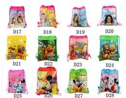 Wholesale New Frozen drawstring bags Anna Elsa peppa pig sofia Despicable Me backpacks handbags children s school bags kids shopping bags present