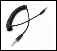 Wholesale A335 mm Male to Male M M Plug Jack Stereo Headphone Audio Coiled Fluoro AUX Extension Cable Replacement Spring for Car Speak iPhone