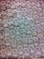Wholesale 5yds pc African water soluble chemical two color french net lace fabric High quality ladies wedding dress fabric in different colors