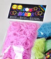 Wholesale glitter rubber bands Rainbow Loom Twistz Bandz glitter colorful color bands Bands amp S C clip bag Silicone Rubber DIY Bracelet