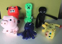 Wholesale Minecraft Enderman cow pink doll pig quot Baby Pig Piggy Stuffed toys coolie afraid of plush toys of my world for kids