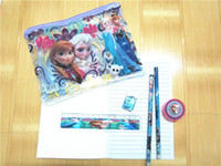 Metal book box - 1406x FROZEN pencil box pencil box set ruler pencil eraser pencil sharpener book