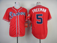 Wholesale Freeman Jersey Atlanta quot Braves quot Red Cool Base Authentic Baseball Jerseys New Arrival Team Sports Jerseys High Quality Men Sports Shirts