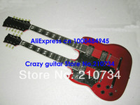 Solid Body 12 Strings Mahogany Left Hand Guitar Newest red Double Neck DES 1275 Electric Guitar HOT Free shipping