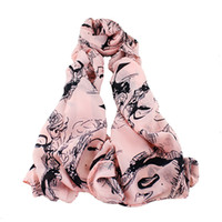 Fashion apparel designers - Three Color Designer Brand Scarves Character Print Individual Clothing Summer Apparel Accessory