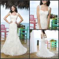 Cheap 2014 Latest Special Sincerity Wedding Dresses 3770 Mermaid Square Sweetheart v back Hollow Sweep Train Full Beaded Lace Applique Bridal Gown