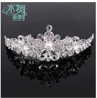 Cheap Wedding Bridal crystal veil tiara crown headband CR197