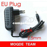 Wholesale EU Plug Wall CHarger Power adapter for Tablet PC Black V A mm Charging port for Aoson M19 PIPO M2 M3 M8 M8 G Tablets