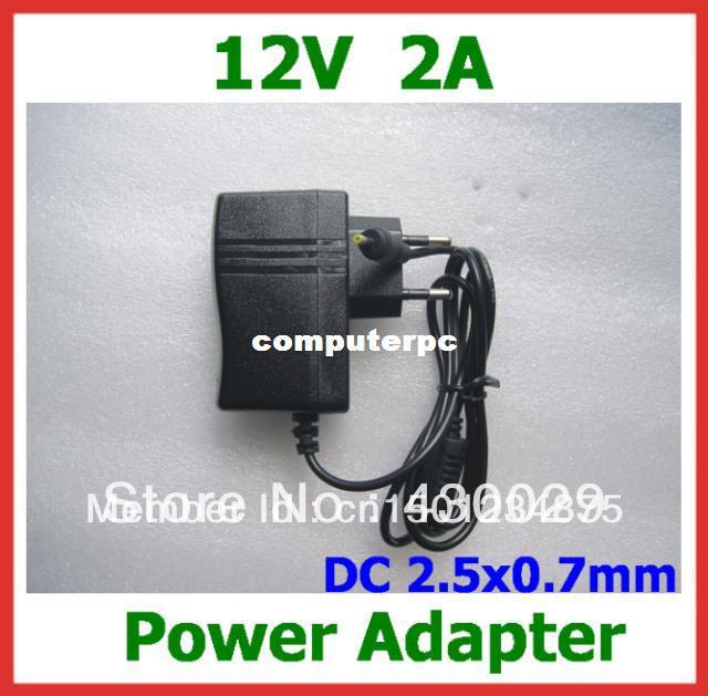 Buy -12V 2A Power Adapter DC 2.5x0.7mm EU US Charger Yuandao N101 II Cube U9GT2 U9GT5 U30GT2 Ainol Hero Chuwi V9 W22pro N90FHD