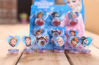 Wholesale In Stock Frozen Anna Elsa Stamper Set Cartoon Character Princess Stamp New Novelty Toy Gifts set Stamps