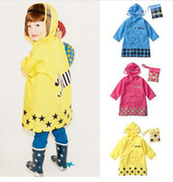 Wholesale smally children s raincoats Hot Sale BRAND NEW BOYS GIRLS raincoat retail