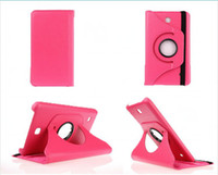 Wholesale 10pcs Rotating Flip PU Leather Case Stand Cover for Samsung Galaxy Tab T330 T530 Tablet Free DHL