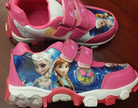au pair - EMS AU new design Frozen Anna and Elsa shoes sneakers sport sports shoes purple pink pairs