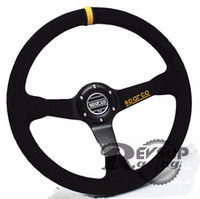 Wholesale 350mm Suede Leather Rally Drift Deep Dish Steering Wheel