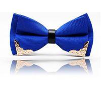 Wholesale fashion blue butterfly bow tie for men butterflies cravat