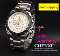Cheap 2014 New CHENXI029B Quartz mens Watch Japan Movement Stainless Steel Strap with date Gents man Wristwatch
