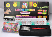 Link, Chain other all Rainbow loom kit rainbow loom DIY rubber wrist bands bracelets with(600 pcs bands+24 pcs S clips+1 pcs Hook+1 pcs shell+box packaged)