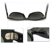 Wholesale New UV400 protection Sunglasses High Quality Plank black Sunglasses glass Lens black Sunglasses beach sunglasses UV protection sunglasses