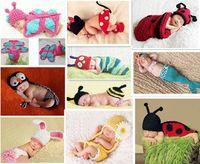 Unisex Spring / Autumn Sleeveless Wholesale -Cheap Newborn Baby Infant Handmade Animal Crochet Hat Costume Photo Photography Prop