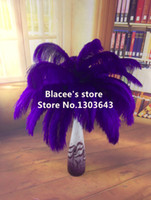 Wholesale HOT prices purple ostrich feather for wedding decor or table decor