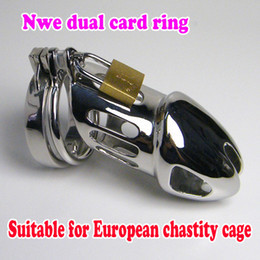 Wholesale New Male Chastity Device Stainless Steel Adult Cock Cage Novelty Sex Urethral Toys bdsm belt