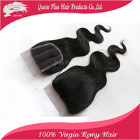 Wholesale h and j hair body wave Ideal indian virgin hair Lace TOP Closure A remy human hair premium now hair aliexpress