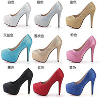 2014 Women high heels crystal 11CM high heel shoes Sexy Part...