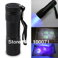 Flashlights < 100 ABS 2014 New Blacklight Invisible Ink Marker 9LED UV Ultra Violet Flashlight Torch Light 3AAA #47621