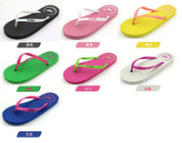 Wholesale summer han edition love pink puppy crystal flip flops candy color cool slippers at home