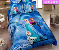 Cheap Brand New Korean Cartoon Frozen Princess Anna Elsa Olaf Soft Home Textiles Bedding Bsheet + Pillow Case + Duvet Cover 4pcs Set Bed In A Bag