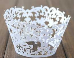 free shipping 60pcs white, ivory,black garden vintage baking wrapper wholesale cup cake liners cake design festive event supplies