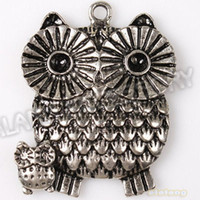 Fashion Charms Trendy Fashion 18PCS Charms Owls Mother & Baby Animal Antique Silver Alloy Pendants Fit Jewelry Necklaces Making DIY Handcrafts 144797