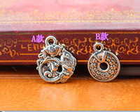 b component - Tibetan silver A amp B style alloy Charms Necklace earrings Pendants DIY Charms Jewelry Findings amp Components