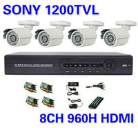 Wholesale Security Sony TVL Surveillance CCTV System ch h Full D1 DVR IR Cameras Surveillance System IR Cut Filter ch DVR Kit