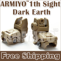 Wholesale Armiyo th Generation Front Rear Folding sight Dark Earth Fit Outdoor Sport Hunting Shooting Training Guns Scope Sight Airsoft