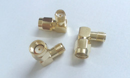 Wholesale gold RP SMA male to SMA female Right Angle RF Adapter connectors