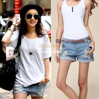 Jeans Women Bootcut S-XL Summer 2014 for Women vintage High waist shorts jeans feminino Ripped Hole short jeans denim female short SV000480 B003