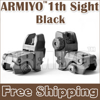 Sight airsoft gun - Armiyo th Generation Hunting Back up Tactical Front and Rear Folding Sight Shooting Guns Accessories Airsoft Rifles Scope Black